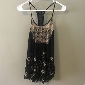 Flowy black tank top from free people intimately